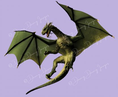 green dragon flying